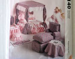 barbie doll furniture pattern mccalls 8140 bedroom living dining room sewing pattern for 11 12 inch fashion dolls uncut ff barbie doll furniture patterns