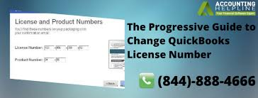 change quickbooks license number