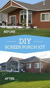 covered back deck with screen wall kit from screenhousesunlimited com added