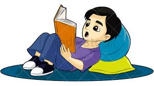 kid reading a book png jpg and vector eps infinitely scalable