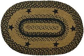black star oval rug