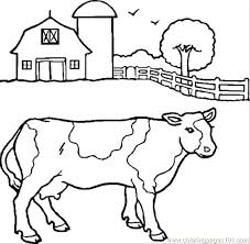 Coloring Pages Cow Cow Coloring Pages Free Drawn Cattle Coloring