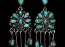 vintage zuni chandelier turquoise earrings from uchizonogallery on ruby lane