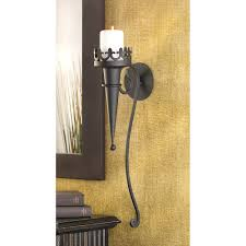whole gothic torch candle holder wall sconce meval decor to enlarge