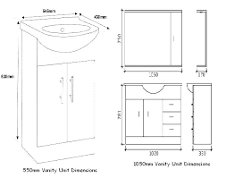 bathroom vanity dimensions cabinet depth standard amazing height nz