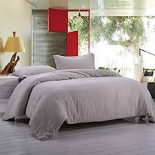 stone washed linen bedding. Contemporary Stone Simpleu0026Opulence 100 Stone Washed Linen Solid Color Basic Style King Queen  Twin Full Duvet Cover On Bedding Amazoncom