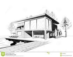 architecture houses sketch. Excellent Modern Home Architecture Sketches On Design With Vector Black And White Sketch Of Suburban Wooden House Houses S