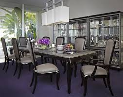 contemporary formal dining room sets. Michael Amini After Eight 5 Piece Formal Dining Room Set Black Onyx By AICO Contemporary Sets O
