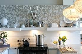 kitchen wallpaper ideas interesting blend of tile and wallpaper in the kitchen design heather design kitchen