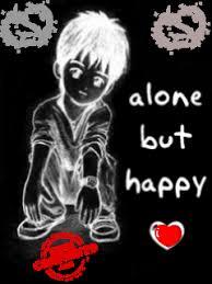 alone but happy