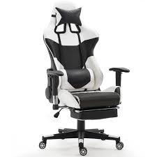 desk chair footrest. Wonderful Desk Costway Ergonomic Gaming Chair High Back Racing Office WLumbar  Support U0026 Footrest 0 And Desk G
