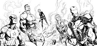 Avengers Comic Drawing Outlines Yahoo Image