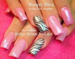 Robin Moses Nail Art: White Zebra Print on Pink Polish with Light ...