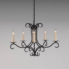 the elton 5 arm wrought iron candle chandelier bespoke lighting co regarding wrought iron candle chandelier