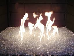 fire glass replaces gas logs and lava rocks easy installation produces more hit