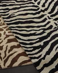 traditional zebra rug 8 6 x 11 6