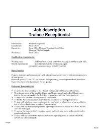 Office Manager Job Description For Resume New Resume Job