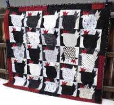 Black white red chicken quilt | Addicted to Quilts and things that ... & Black white red chicken quilt Adamdwight.com