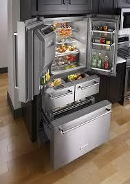 kitchenaid 25 8 cu ft 5 door french door refrigerator silver krmf706ess best