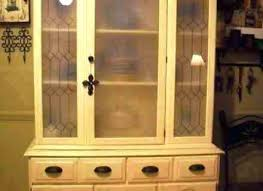 oak hutch with glass doors wall china cabinet together antique kitchen