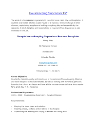 Cv For Housekeeper Examples Cv For Housekeeper Examples