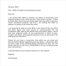 letter of intent to purchase real estate purchaser cover letter