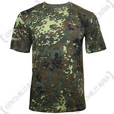 Camo Pattern Cool GERMAN Army Flecktarn Camo Pattern TShirt ALL SIZES Cotton