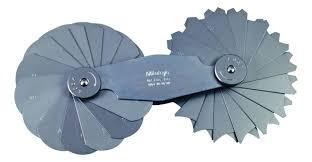 radius gauge set. mitutoyo 15.5 - 25mm other small tools radius gage set (186-107) gauge