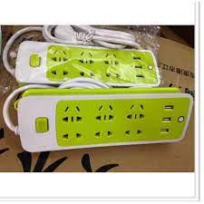 Ổ cắm điện chống giật 6 lỗ 3 cổng usb đa năng 5*