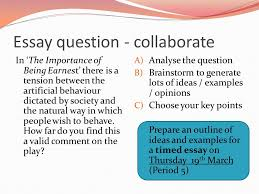 the importance of being earnest ppt 53 essay question collaborate in the importance of being earnest