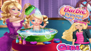 barbie princess baby wash game barbie cute baby bathing game for kids you