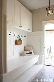 Beadboard Entryway Coat Rack Cool Woodwork Mudroom Coat rack bench and Wall colors 15