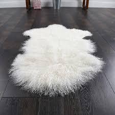 mongolian sheep rug natural white mongolian sheep skin ground mat90 50cm genuine tibet mongolian sheepskin rug