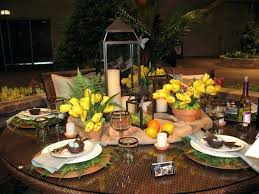 round dining table setting ideas settings with glass centerpiece diy