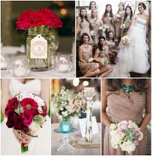 Blue Red Cream Wedding Color Inspiration Rustic Wedding Chic