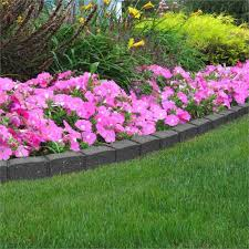 1 2m recycled rubber lawn edging
