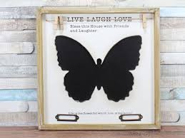 Butterfly Memo Board Simple Butterfly Chalkboard Blackboard Memo Notice Board With Pegs Wooden