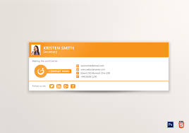 Email Signature Template Outlook Email Signature Design Template in PSD HTML 1