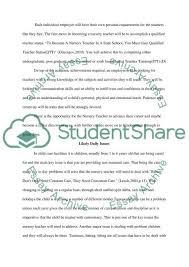nursery teacher essay example topics and well written essays nursery teacher essay example