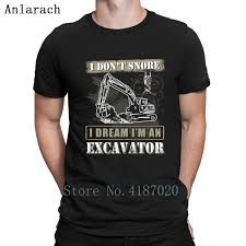 Us 13 99 12 Off Excavator Heavy Equipment Operators T Shirt Hiphop Top Great Designing Family T Shirt For Men Euro Size Sunlight Novelty In T Shirts
