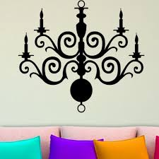 candle chandelier wall black decal vinyl stickers