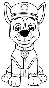 Coloring Pages Super Chase Paw Patrol Coloring Pages Creative