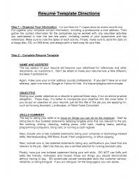 Cover Letter Resume Objective Statement Template Directions