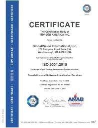 Iso Certified Translation Vendor Globalvision