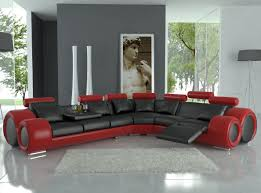black modern furniture. Fine Black Amazoncom 4087 Red U0026 Black Bonded Leather Sectional Sofa With Builtin  Footrests Kitchen Dining Inside Modern Furniture H