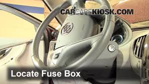 interior fuse box location 2010 2016 buick lacrosse 2011 buick locate interior fuse box and remove cover