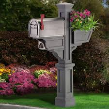 wood mailbox posts. Image Of: Signature Plus Mailbox Post Outdoor In Granite Dress Up Your Wood Posts O