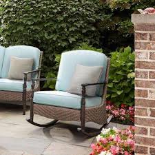 wicker rocking chair. Bolingbrook Rocking Wicker Outdoor Patio Chair I
