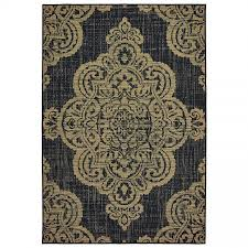 oriental weavers marina 5929k black tan medallion area rug