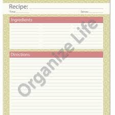 Full Page Recipe Templates Recipe Card Full Page Recipe Template Printable Pdf